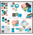 timeline and infographics design templates vector image vector image