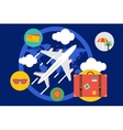 Travel by the plane Summer vector image