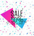 triangle banner with on shiny background vector image