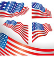 USA windy flags vector image