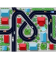 view of a highway junction vector image vector image