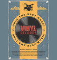 vinyl records and bass drum music vector image