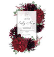 wedding floral invite save date card design vector image vector image