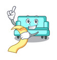 with menu sofa mascot cartoon style vector image