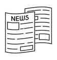 line icon newspaper vector image