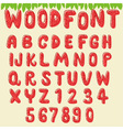 wood font cherry vector image