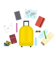 Travel set icons in flat style vector image