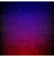 Red blue and purple pixelated digital background vector image
