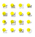 16 profit icons vector image vector image