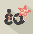 30 Years Anniversary Typography Design Illu