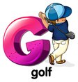 A letter G for golf vector image vector image