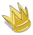 a prince crown or color vector image vector image
