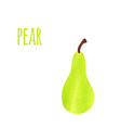 Abstract Colorful Watercolor Pear isolated vector image