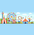 amusement park fun park theme kids vector image