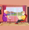 background of elderly couple vector image