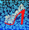 Background of high heel Shoes on beautiful vector image vector image
