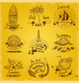 balinese labels set vector image vector image