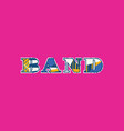 band concept word art vector image