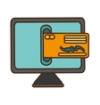 bank online ecommerce icon vector image vector image
