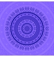 Blue Circle Lace Ornament vector image vector image