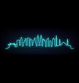 blue neon skyline of kuala lumpur city bright vector image vector image