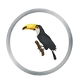 Brazilian toucan icon in cartoon style isolated on vector image vector image