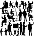 Businessman Silhouette Collection vector image vector image