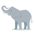 cartoon elephant large concave back mammal vector image vector image