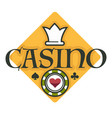 casino club gambling isolated icon poker chip vector image vector image
