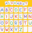 Child English alphabet vector image vector image