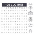 clothes editable line icons 100 set vector image vector image