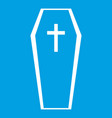 coffin icon white vector image vector image