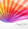 colorful abstract sun rays background vector image vector image