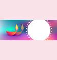 colorful happy diwali festival background vector image vector image