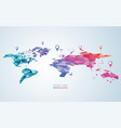 colourful world vector image vector image