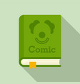 comic genre book icon flat style vector image vector image