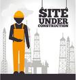 Construction design vector image vector image