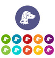 dalmatians dog set icons vector image