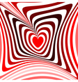 Design heart twisting movement background vector image vector image