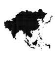europe pixel map square dot pixel europe vector image vector image