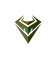 Evil robot head symbol vector image