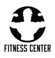 fitness center icon vector image