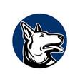 german shepherd dog looking up mascot vector image vector image