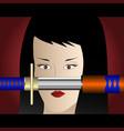 girl with the katana vector image
