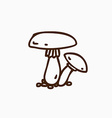 Hand Drawn Mushroom vector image
