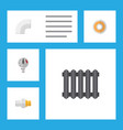 icon flat pipeline set of radiator drain teflon vector image vector image