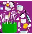 Kitchenware icons setSteel kitchen vector image vector image
