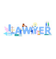 lawyer web banner flat template with text vector image vector image
