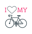 Love bike card 3 vector image vector image