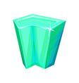 mineral crystalic precious stone crystal gem vector image vector image